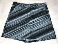 NIKE GOLF TOUR PERFORMANCE Womens' Black Gray Striped Skirt Size 8