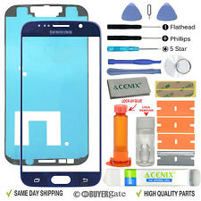 Samsung Galaxy S6 Replacement Screen Front Glass Outer Lens Repair Kit BLUE - UK