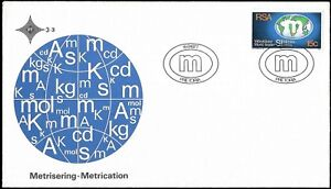 SWA - FDC - Metrication, cover with Control block,  MNH and Used stamp