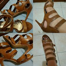 Gladiator heeled brown shoes