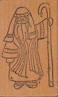 "Joseph raindrops Wood Mounted Rubber Stamp  2 x 3""  Free Shipping"