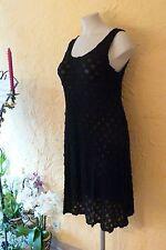 BORIS INDUSTRIES Tüll Kleid 40 42 (1) NEU schwarz/Ausbrenner-Kreise LAGENLOOK