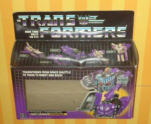 G1 TRANSFORMERS 1985 ASTROTRAIN NM WITH BOX FREE SHIPPING