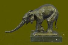 VIENNA MARBLE ELEPHANT FIGURINE BUGATTI MADE BY LOST WAX FIGURINE SculptureBC