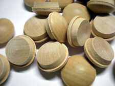 """SCREW-HOLE WOOD BUTTONS 3/4 inch 50 pieces to cover screwholes FITS 3/4"""" HOLE"""