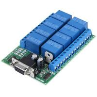 12V 8-Channel DB9 RS232 Relay Module Remote Control Switch Smart Home new