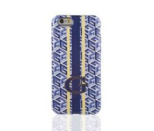 "COQUE IPHONE 6 6S (4""7) GUESS CUBIQUE BLEU & BLANC SILICONE SEMI-RIGIDE (TPU)"