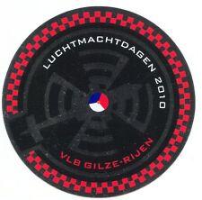 Sticker Aufkleber Luchtmachtdagen 2010, Airshow Airbase Gilze-Rijen Niederlande
