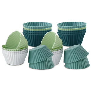 Silicone Muffin Cases Large Cupcake Moulds Baking Cups Reusable Non-Stick AU