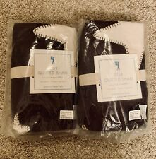 NWT Pottery Barn Star Quilted Standard Sham - Brown - Set of 2