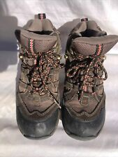 Pre- Owned LL Bean Hiking Leather BootsKids Size 3 Youth
