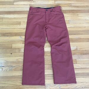 Volcom Men Carbon Pant Ski Size Medium Light Burgundy
