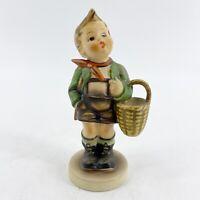 """VINTAGE Goebel Hummel Figurine VILLAGE BOY #51 2/0 TMK-4 1961 5.5"""" Tall"""