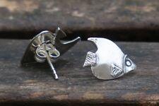 Fish Stud Earrings, Fish Studs, Fish Earrings, Silver Stud Earrings, UK Handmade