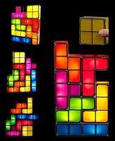 Tetris Puzzle LED Light Stackable Bedroom Night Desk Lamp Retro