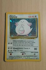 Pokemon carte rare Holo Foil Chansey set Base Unlimited PLAYED ITA