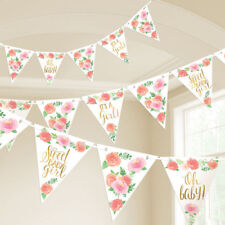 BABY SHOWER Sweet Floral PENNANT BANNER KIT ~ Party Supplies Hanging Decoration