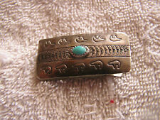 Vintage Money Clip with Turquoise
