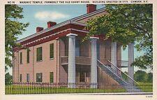 Mas. Temple Old Court House Camden South Carolina SC, Old Vintage Linen Postcard