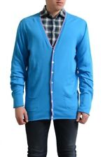 Dsquared2 Men's Blue Button Down Cardigan Sweater US XL IT 54