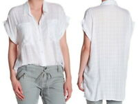 Supplies Union Bay Windowpane Gauze Shirt Small 2 4 White Tunic Long Oversized