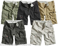 SURPLUS TROOPER LIGHTWEIGHT CARGO SHORTS MENS VINTAGE ARMY STYLE COMBAT COTTON