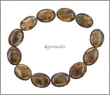 12 Red Brown Pietersite Puffy Oval Beads 12x16mm #77064