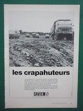 4/1973 PUB SAVIEM RENAULT CAMION MILITAIRE 4X4 MILITARY TRUCK ORIGINAL FRENCH AD