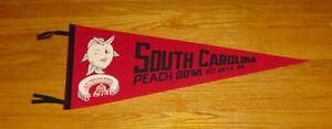 1969 South Carolina Gamecocks Peach Bowl pennant vintage NCAA football