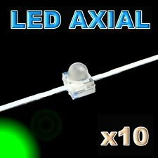 374/10#LED axial 1,8mm verte 10pcs