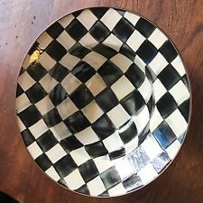 """Mackenzie Childs Courtly Check 12"""" Bowl"""