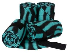 Tough 1 softfleece turquoise zebra polo wraps (set of four) horse tack 67-7013