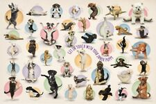 Jigsaw Puzzle Animal Dog Yoga Puppies 300 EZ Grip pieces NEW Made in USA