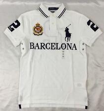 Ralph Lauren Men Custom Slim Fit Polo Shirt Number 2 Barcelona White L