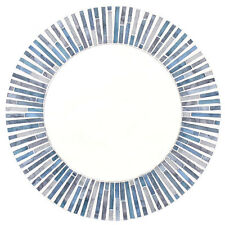 ROUND BLUE MOSAIC MIRROR 40CM TALL WALL HANGING HOME DECOR MO_54625*