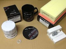 GENUINE MG ROVER 45 ZS SERVICE KIT SPARK PLUGS AIR + OIL FILTER FREE COFFEE MUG