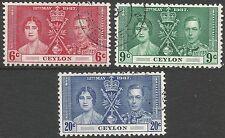 Royalty George VI (1936-1948) Ceylon Stamps