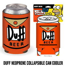 The Simpsons Duff Beer Logo Illustrated Drink Can Cooler Koozie, NEW UNUSED