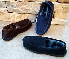 New Men's Corduroy Slip on Rubber Sole Indoor/outdoor House slipper soft--2020 M