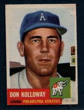 1953 Topps Baseball: #97 Don Kolloway--Philadelphia Athletics EX+