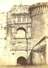 Napoli, Achille Mauri, Trionfo d'Aragona vintage albumen print Tirage alb