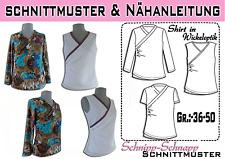 pdf. Schnittmuster Ebook Shirt in Wickeloptik GR. 36-50