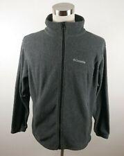 Columbia Womens Warm Fleece LS Full Zip Solid Dark Gray Sweater Jacket Plus 1X