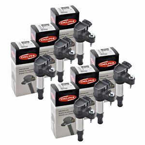 Set of 6 Delphi Ignition Coil GN10309 For Cadillac,Chevrolet,Buick,GMC... 04-09
