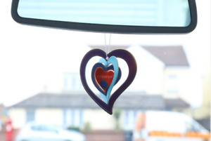 100 CAR AIR FRESHENERS 3D LUCKY HEART HANGING HOME OFFICE CAR VALETING COVEVA