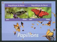 Benin 2017 CTO Butterflies Monarch Butterfly 2v M/S II Insects Stamps
