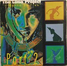 THE LUNA PROJECT I Wanna Be Free 2LP Remixes EX Black Label 1993 House