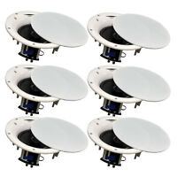 "6 Pack - TDX 6.5"" 2-Way Ceiling Wall Home Theater Speaker Flush Mount White New"
