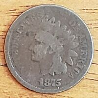 1875 Indian Head One Cent 1c G  Check It Out!!! KM# 90a #AA163