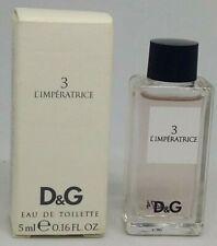RARE Mini Perfume- L'IMPERATRICE 3 D&G -EDT-Miniature Parfum 5 ml Full With box